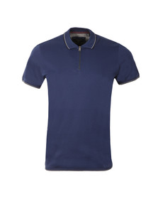 Ted Baker Mens Blue 1/2 Zip Polo