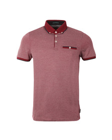 Ted Baker Mens Red SS Striped Polo