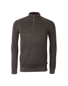 Ted Baker Mens Grey LS Half Placket Funnel Neck