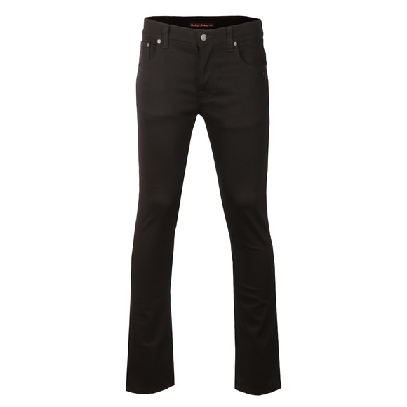 Nudie Jeans Mens Black Grim Tim Jeans main image