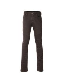 True Religion Mens Grey Rocco Comfort Moto Jean