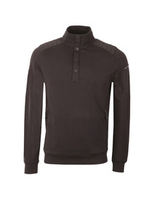 Duck & Cover Mens Black Utopia 1/2 Zip Sweat