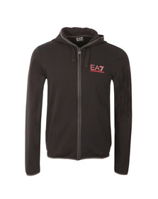 EA7 Emporio Armani Mens Black Full Zip Trim Hoody