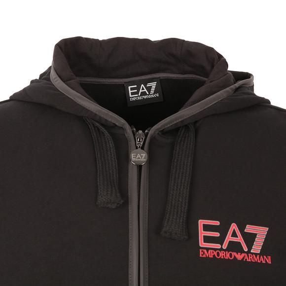 EA7 Emporio Armani Mens Black Full Zip Trim Hoody main image