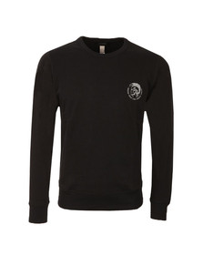 Diesel Mens Black Willy Crew Sweatshirt