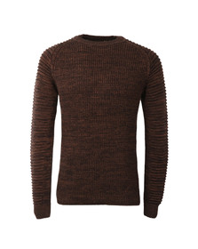 G-Star Mens Brown Suzaki Knitted Jumper