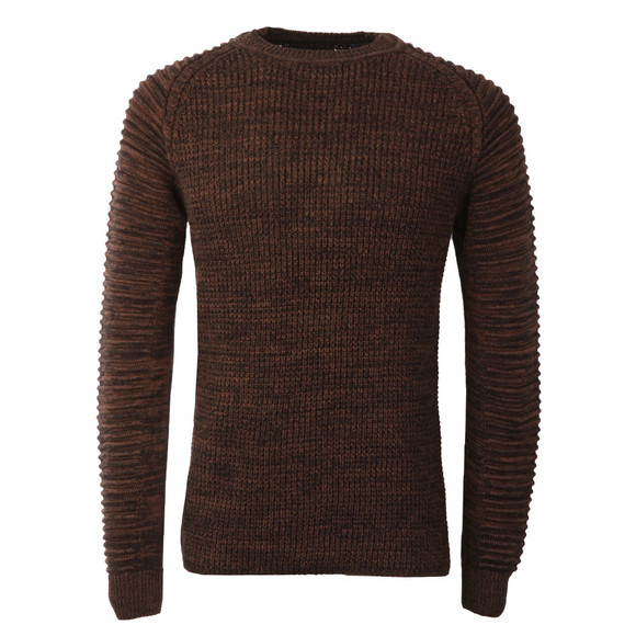 G-Star Mens Brown Suzaki Knitted Jumper main image