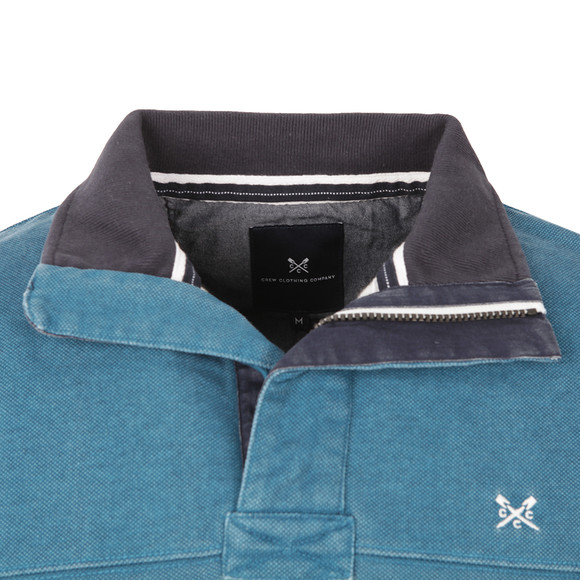 Crew Mens Blue Padstow Pique Sweat main image