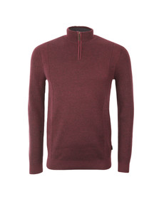 Ted Baker Mens Purple Placket Funnel Neck jumper