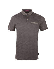 Ted Baker Mens Grey S/S Jacquard Polo