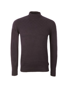 Ted Baker Mens Blue Stitch Interest Funnel Neck Jumper