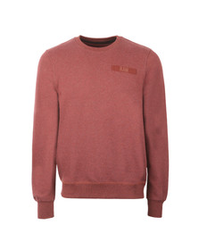 G-Star Mens Red Crew Neck Sweat