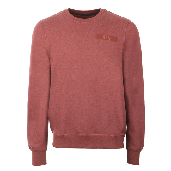G-Star Mens Red Crew Neck Sweat main image