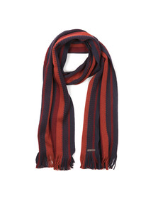 Ted Baker Mens Blue Textured Striped Scarf