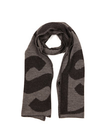 Paul Smith Mens Black PS Logo Knit Scarf
