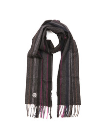 Paul Smith Mens Grey College Wool Scarf
