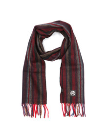 Paul Smith Mens Red College Wool Scarf