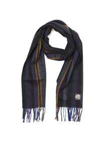 Paul Smith Mens Blue College Wool Scarf