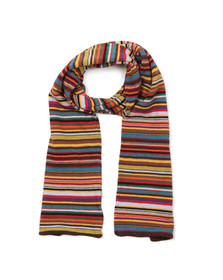 Paul Smith Mens Multicoloured Multi Knit Scarf