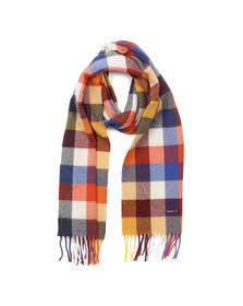 Gant Mens Multicoloured Multicheck Scarf