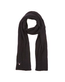 Gant Mens Blue Cotton/Wool Scarf