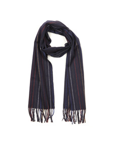 Gant Mens Blue Multistripe Lambswool Scarf