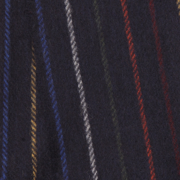 Gant Mens Blue Multistripe Lambswool Scarf main image