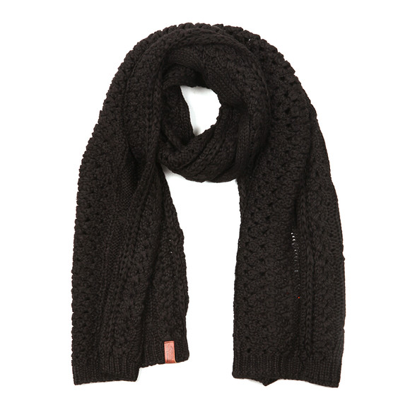 Superdry Womens Black North Cable Scarf main image