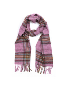 Barbour Lifestyle Womens Pink Country Check Scarf