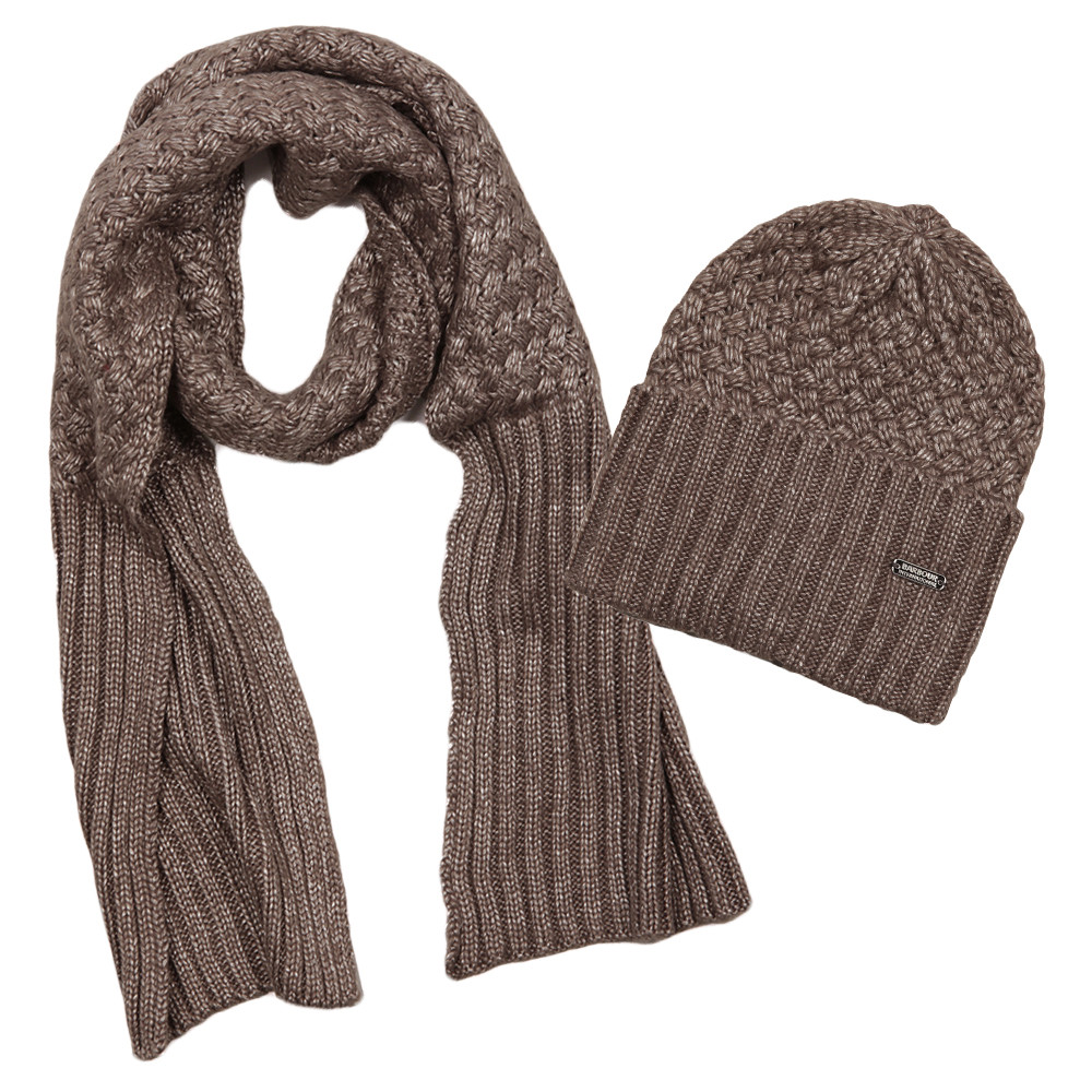 Barbour International Womens Grey Hat and Scarf Set main image. Loading zoom 8a3538e0a42