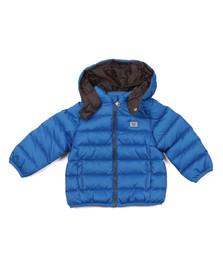 Armani Baby Boys Blue Hooded Padded Jacket