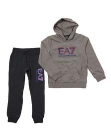 EA7 Emporio Armani Boys Grey Overhead Tracksuit