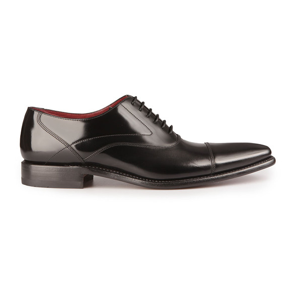 Loake Mens Black Sharp Polished Toe Cap Shoe