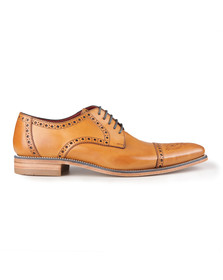 Loake Mens Brown Foley Semi-Brogue Shoe