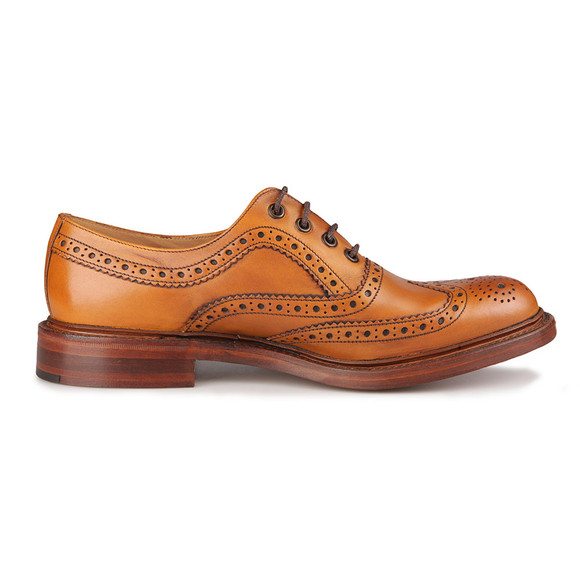 Loake Mens Brown Ashby Calf Brogue Shoe