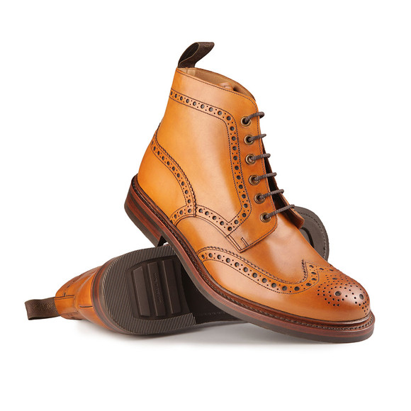 Loake Mens Brown Bedale Calf Brogue Boot main image