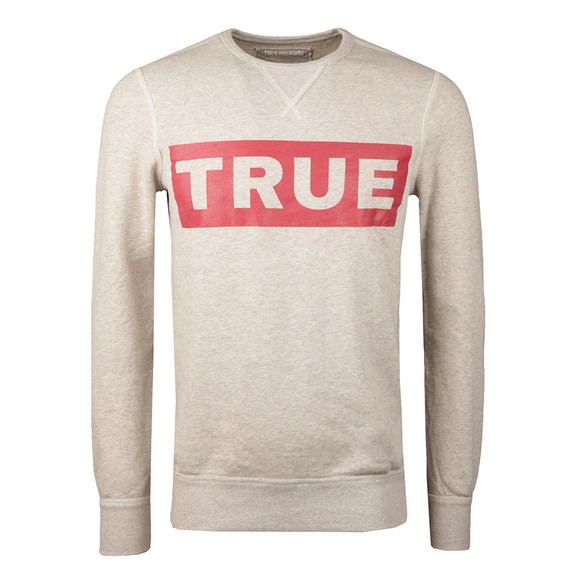 True Religion Mens Grey Long Sleeve Sweatshirt