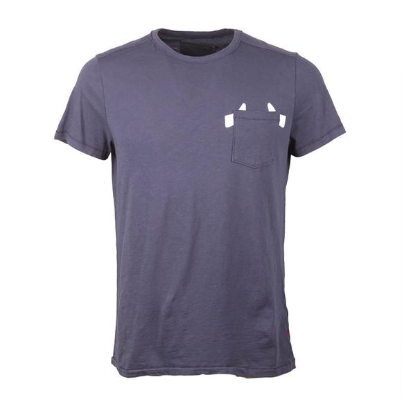 True Religion Mens Blue Horseshoe Crew T Shirt main image