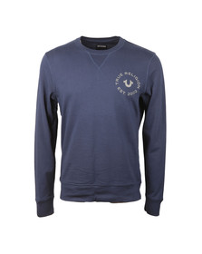 True Religion Mens Blue Crew Neck Sweatshirt