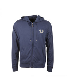 True Religion Mens Blue Crafted With Pride Hoody