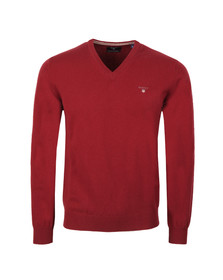 Gant Mens Red V-Neck jumper
