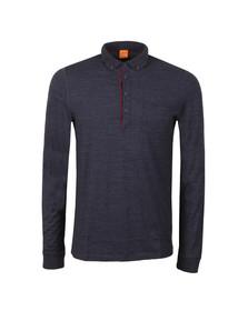 Boss Orange Mens Blue Patcherman Polo Shirt