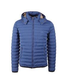 Aquascutum Mens Blue Emmett Diamond Quilted Hooded Jacket
