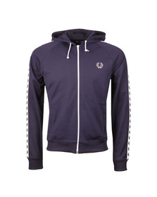 Fred Perry Mens Blue Taped Hooded Track Jacket