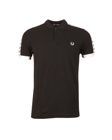 Fred Perry Sportswear Mens Black Taped Pique Polo Shirt