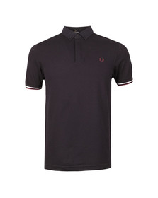 Fred Perry Mens Blue Woven Collar Pique Shirt