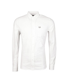 Fred Perry Mens White L/S Oxford Shirt