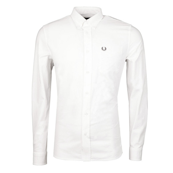 Fred Perry Mens White L/S Oxford Shirt main image
