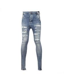 Sik Silk Mens Blue Hareem Jeans