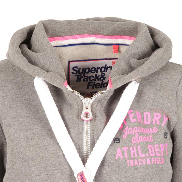 Superdry Womens Grey Track & Field Zip Hoody main image